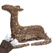 "24"" Grapevine Sitting Fawn, 100 Cool White LED Lights"