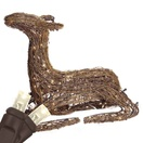 "24"" Grapevine Sitting Fawn, LED Outdoor Yard Decoration"
