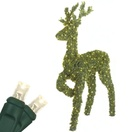4.8' Standing Reindeer Topiary, LED Outdoor Yard Decoration