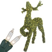 "58"" Reindeer with Head Up, Clear Lamps"