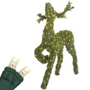 2.5' Head Up Reindeer Topiary, LED Outdoor Yard Decoration