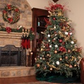 7.5' Full Pre-Lit Blue Aspen Fir Tree, 800 Clear Lights