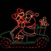 Waving Santa with Golf Cart and Controller