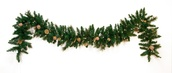 Harvest Gold Prelit Christmas Garland, Clear Lights
