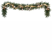 Scotch Mixed Pine Battery Operated LED Christmas Garland, Warm White Lights