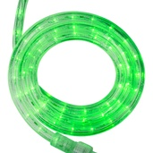"12' True Green LED Rope Light, 2 Wire 1/2"", 120 Volt"