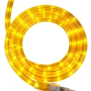 "12' Yellow Rope Light, 2 Wire 1/2"", 120 Volt"