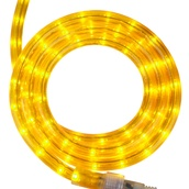 "30' Yellow Rope Light, 2 Wire 1/2"", 120 Volt"