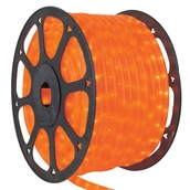 "30' Pearl Orange Rope Light, 2 Wire 1/2"", 120 Volt"