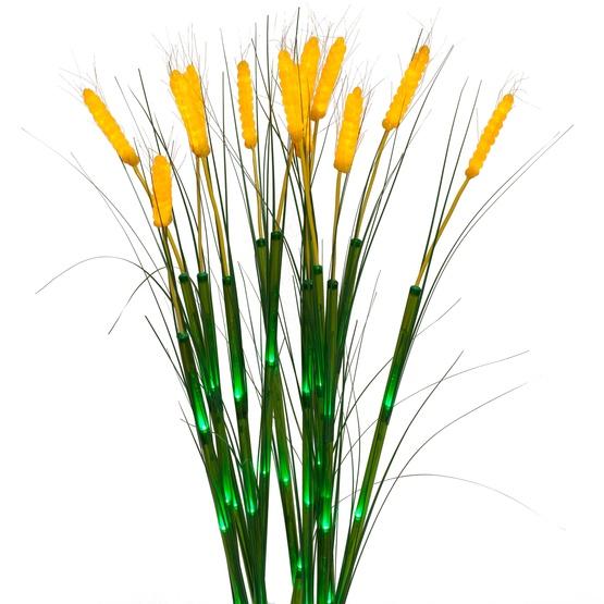 12 Natural LED Wheat Stalks