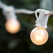25' Outdoor Patio String with 25 G30 Pearl White Lights - SET 15072-18768