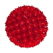 "6"" Mini Starlight Sphere, 50 Red Lamps"