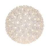 "7.5"" Starlight Sphere, 100 Warm White LED Lights"