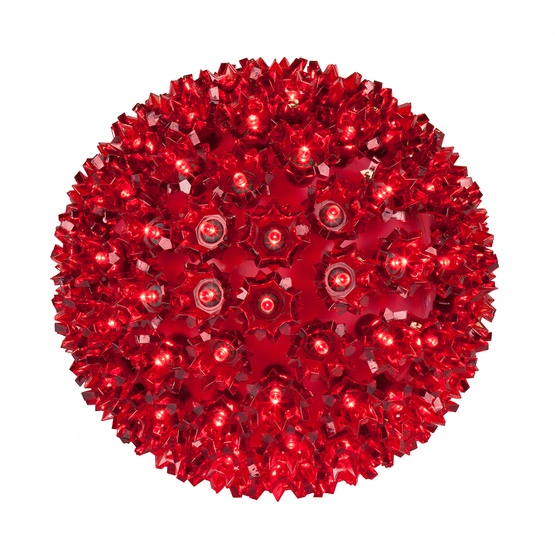 "6"" Starlight Sphere, 50 Red LED Lights"