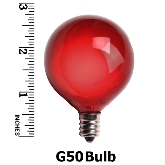 G50 Satin Multicolor, 7 Watt Replacement Bulbs