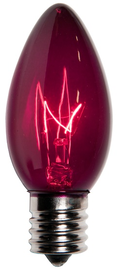 C9 Purple Christmas Light Bulbs, Transparent