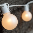 25' Outdoor Patio String with 25 G50 White Lights - Set 15101-18776
