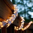 18' Garland Lights, 600 Clear Lamps, White Wire