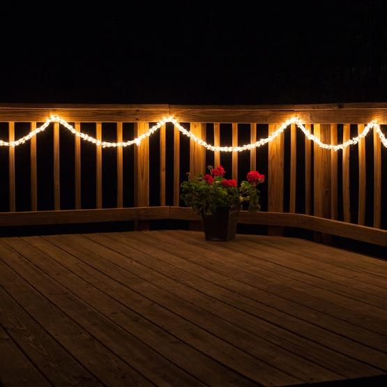 Garland Lights - 18' Garland Lights, 600 Clear Lamps ...