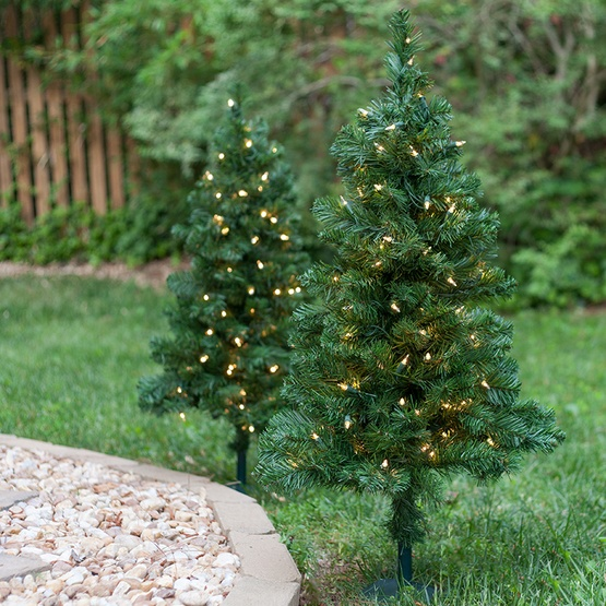 2' Walkway Pre-Lit Winchester Fir Tree, 50 Clear Lamps