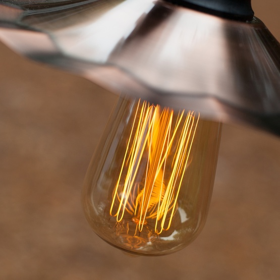 Patio Lights - Commercial Clear Patio String Lights, 7 BVA2125 E26 Bulbs Black Wire