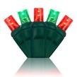 "70 5mm Red, Green LED Christmas Lights, 4"" Spacing"