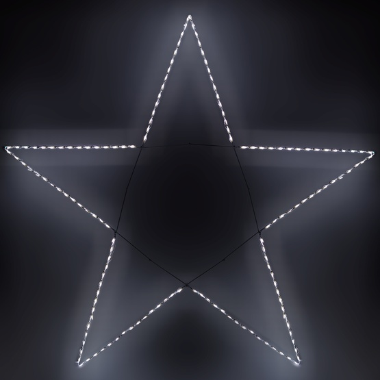 8.5' Giant LED Folding 5-Point Star, 150 Cool White Lights
