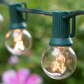 25' Patio String with 20 G30 Clear Globe Lights, Set 15073-18766
