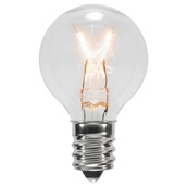 G30 Transparent Clear, 7 Watt Replacement Bulbs