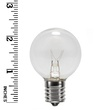 G40 Transparent Clear, 7 Watt Replacement Bulbs