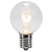G40 Transparent Clear, 7 Watt Replacement Bulbs