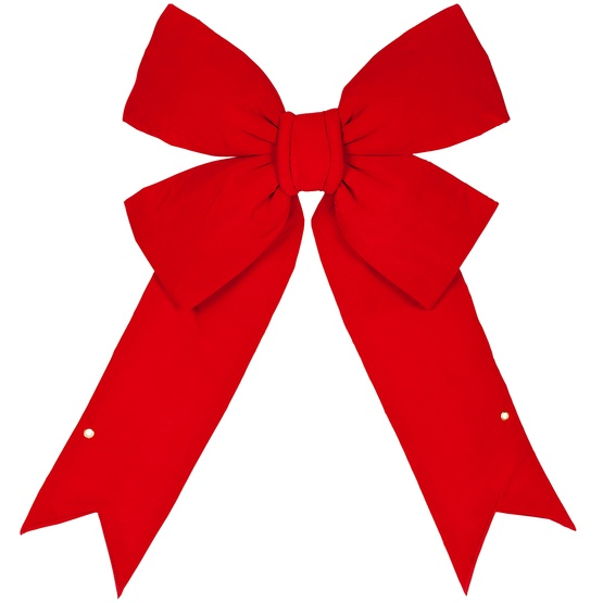 Red Imperial 3D Velvet Christmas Bow
