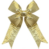 Gold Metallic 3D Lame Bow