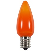 C9 Amber / Orange Opaque LED Christmas Light Bulbs