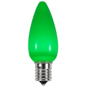 C9 Green Smooth LED Christmas Light Bulbs
