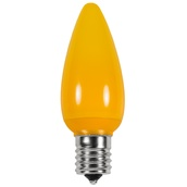 C9 Gold Opaque LED Christmas Light Bulbs