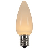 C9 Warm White Smooth LED Christmas Light Bulbs