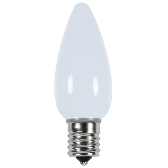 C9 Cool White Smooth LED Christmas Light Bulbs