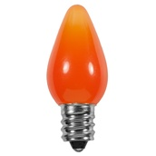 C7 Amber / Orange Opaque LED Christmas Light Bulbs