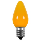 C7 Gold Opaque LED Christmas Light Bulbs