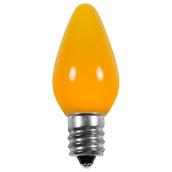 C7 Gold Smooth LED Christmas Light Bulbs