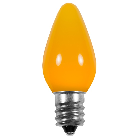 C7 Gold Smooth LED Christmas Light Bulbs
