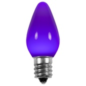 C7 Purple Opaque LED Christmas Light Bulbs