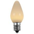 C7 Warm White Smooth LED Christmas Light Bulbs