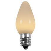 C7 Warm White Smooth LED Christmas Light Bulbs