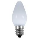 C7 Cool White Smooth LED Christmas Light Bulbs