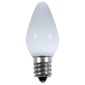 C7 Cool White Opaque LED Christmas Light Bulbs