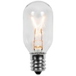 T22 Transparent Clear, 15 Watt Replacement Bulbs