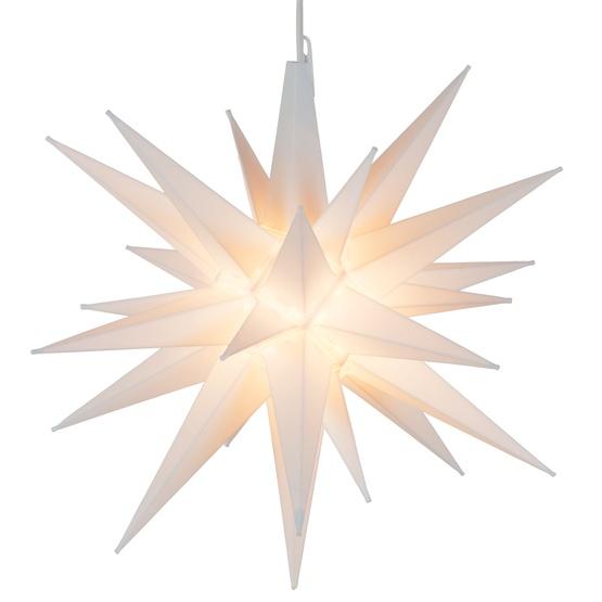 "14"" White Moravian Star"