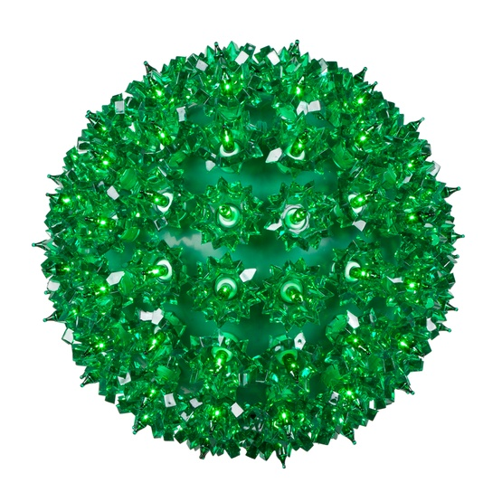 "10"" Mega Starlight Sphere, 150 Green Lamps"
